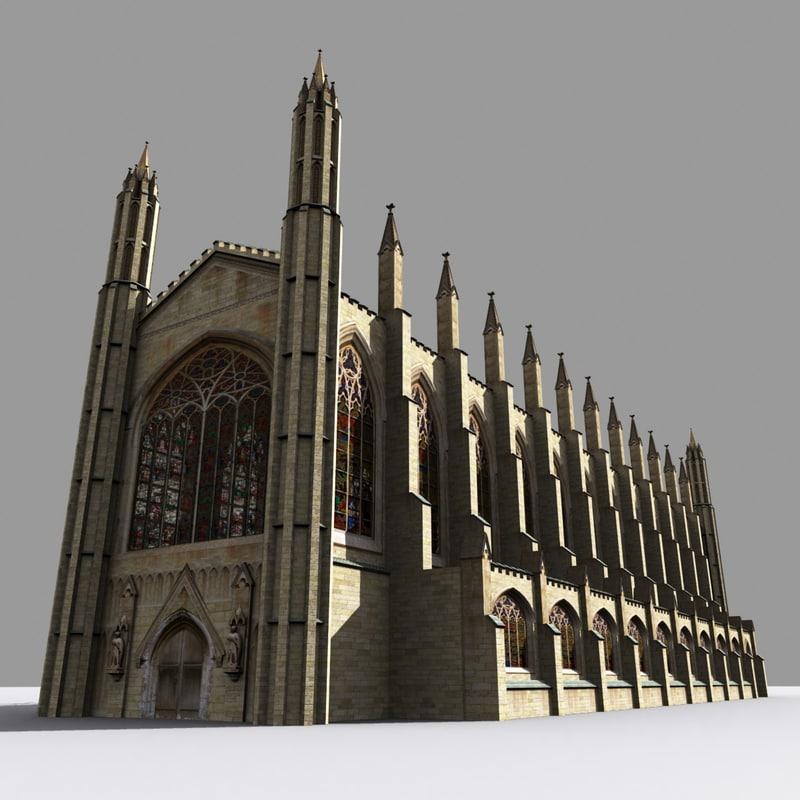 kings college chapel cambridge 3d 3ds