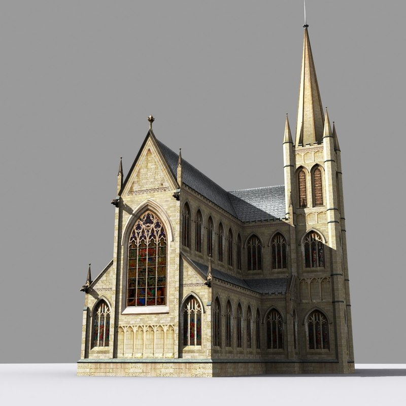 medieval church gothic 3d model