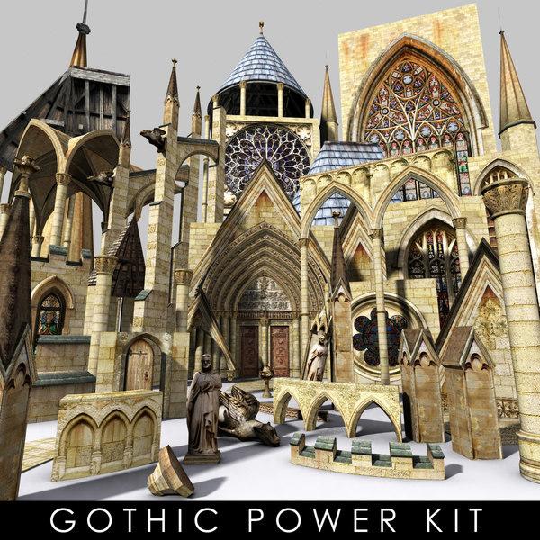 3d model kit gothic