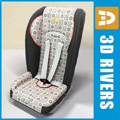 3d model baby car seat