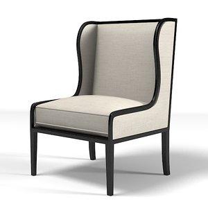 3d ixelles wing chair