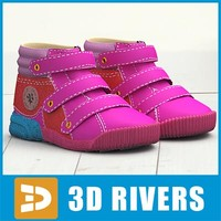 kids shoes 3d max