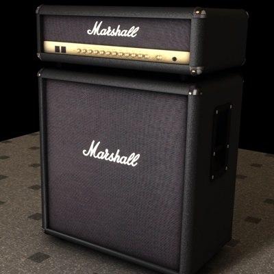 marshall speaker 3d model