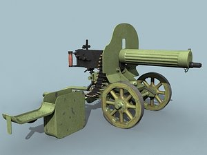 maxim m1910 machine gun lwo