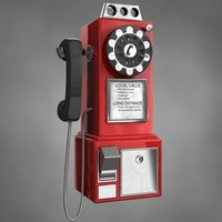 vintage payphone 3d model