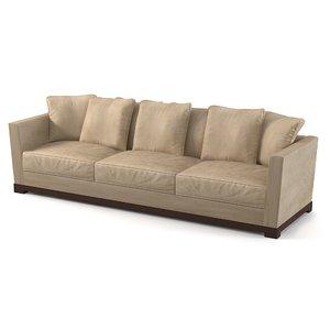 promemoria modern sofa 3d model