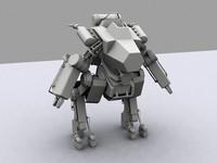 3d model mech modeled