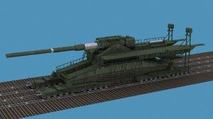 3d model of german railroad gun