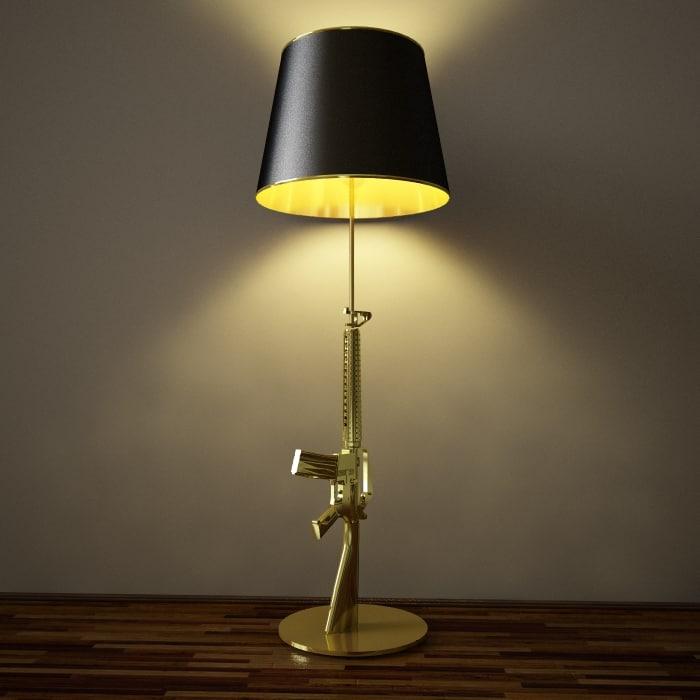 3d gun lamp model