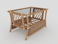 maya rattan coffee table