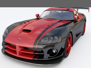 3d 2010 dodge viper acr model