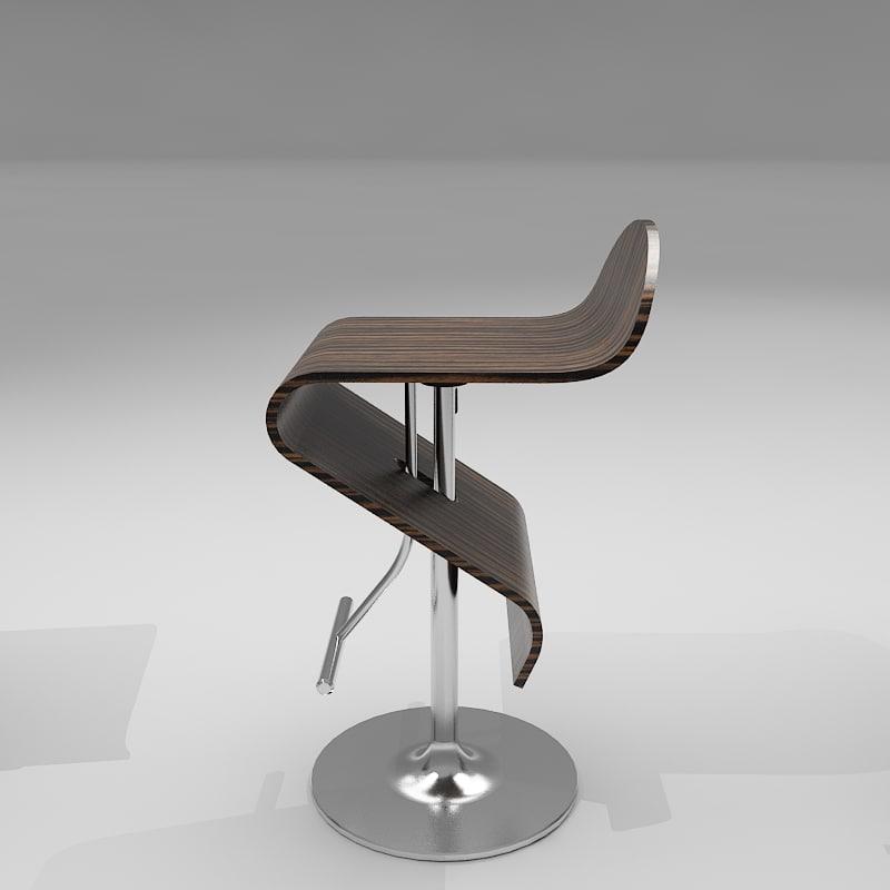107 series bar stool 3d model