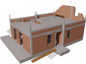 construction house 3d model