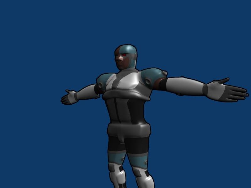 cyborg teen titans 3d model