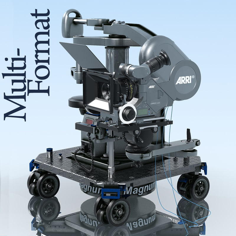 3d model of arriflex camera dolly