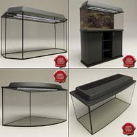 3d aquariums set modelled model