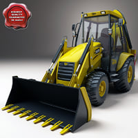 backhoe loader 3d model