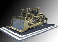 bulldozer dozer construction 3d model