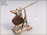 Trebuchet, 10 Textures, Low Poly