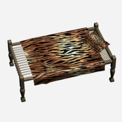 charpai bed 3d model