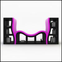 stanislav console bookshelf max