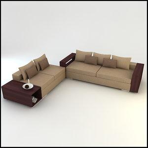 3d corner sofa designs model