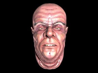 animatable male head c4d