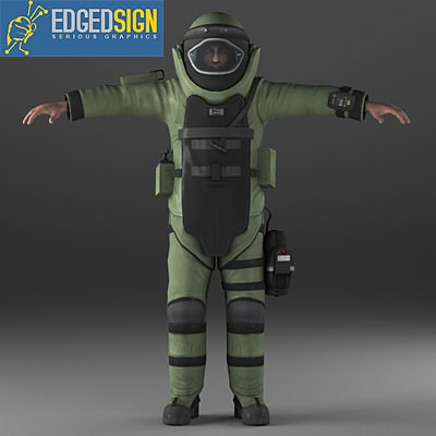 eod9 bomb disposal suit 3d obj