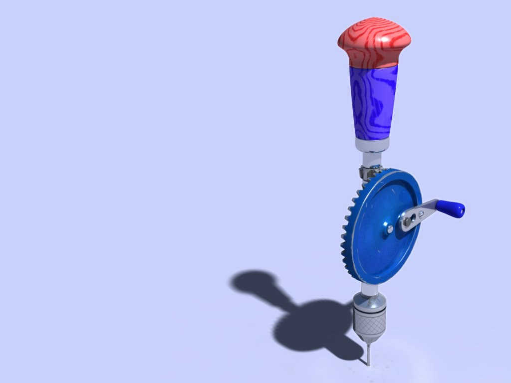 3d hand drill model