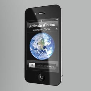 3dsmax apple iphone 4g