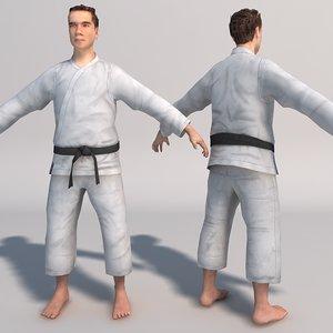 karate fighter realtime 3d model