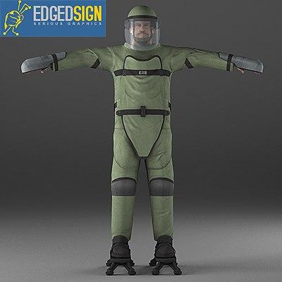 3d model of lightweight demining ensemble