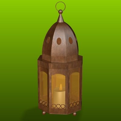 3ds max copper lantern