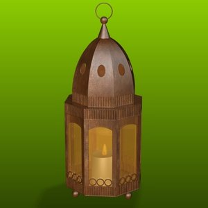 3ds max copper lantern