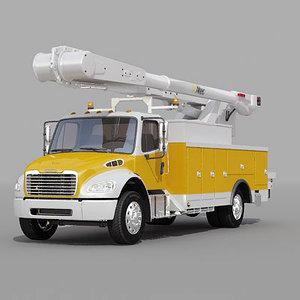 utility bucket truck 3d model