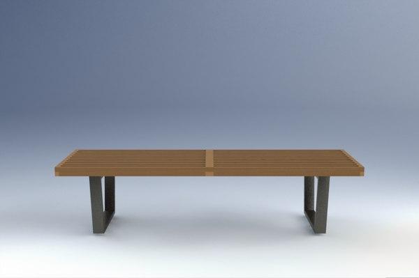 nelson platform bench 3d model