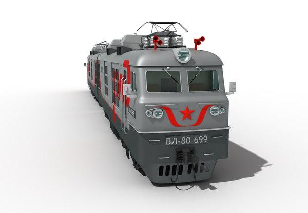 vl-80 train 3d model