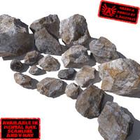 rocks stones - obj