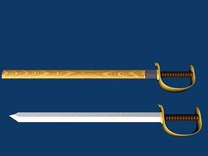 3d model saber blade