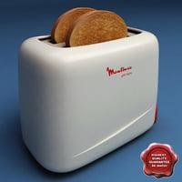toaster moulinex 3d model