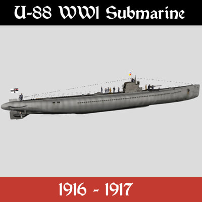 german submarine 3d model