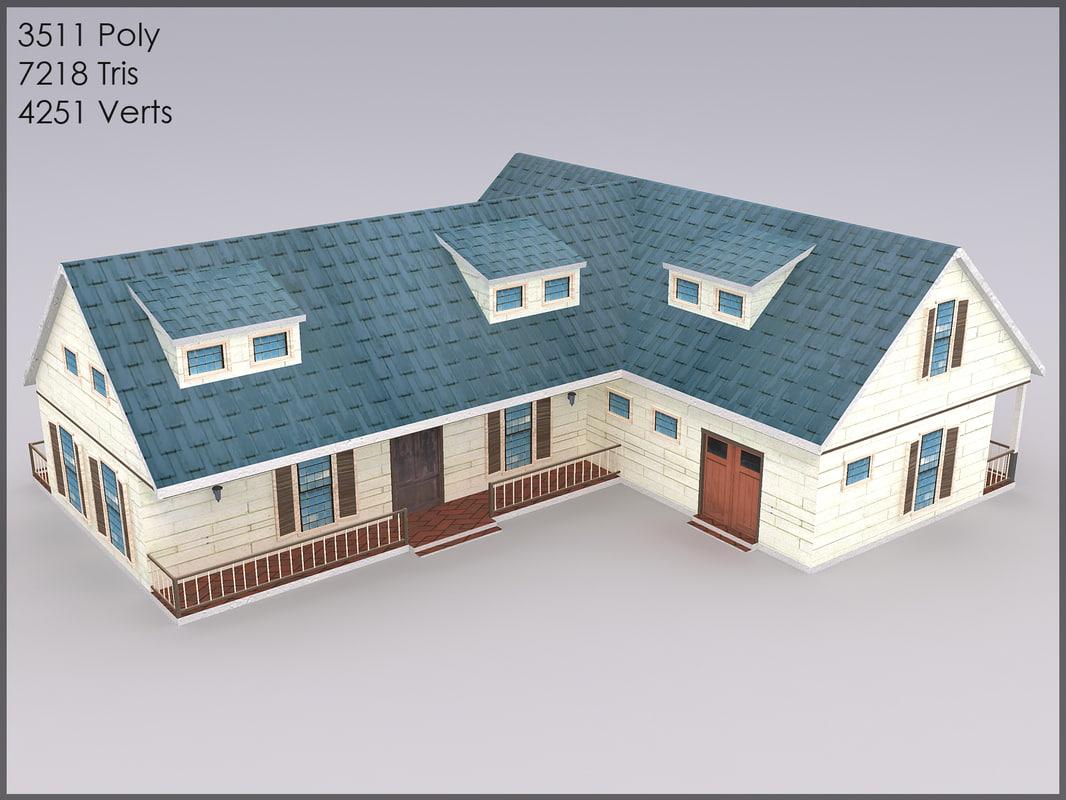 3d victorian villa model