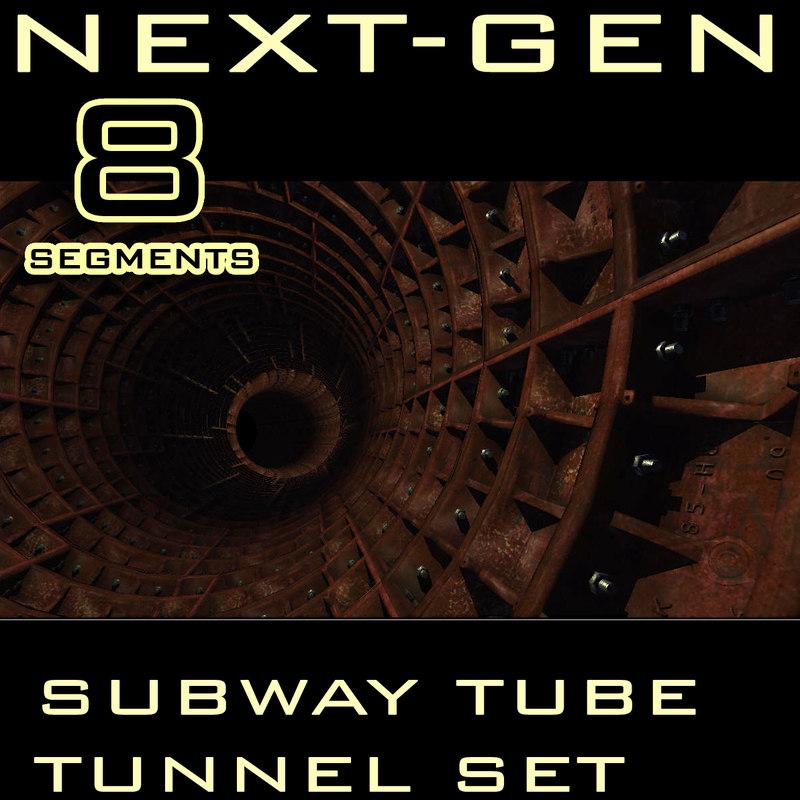 3d model tube tunnel next-gen gen