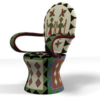 3d african chair designer