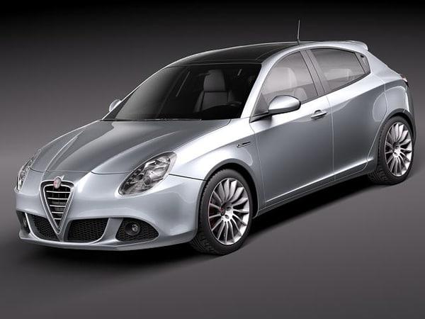 alfa romeo giulietta 2011 3d model