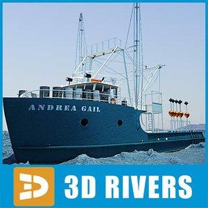 fishing andrea gail 3d model