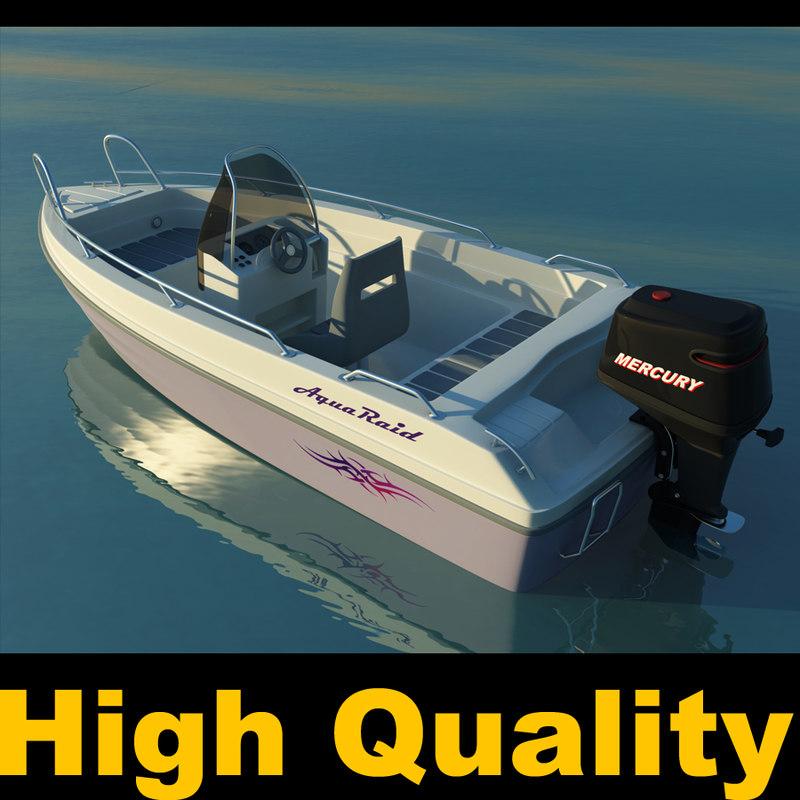 boat motorboat motor 3d model