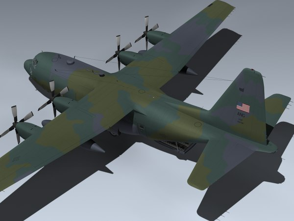 c-130h hercules oh ang 3d max