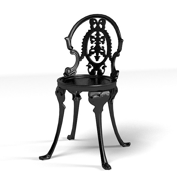 cast chair classic 3d model
