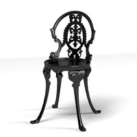 cast chair classic iron metal french forged